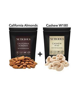 California Almonds (Badam),Jumbo Cashew, 250 Gm X 2.
