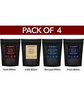 ALL NATURALS Millets Combo (Kodo Millet 500 gm, Little Millet 500 gm, Barnyard Millet 500 gm ,Proso Millets 500 gm - 500 X 4 (Pack of 4)