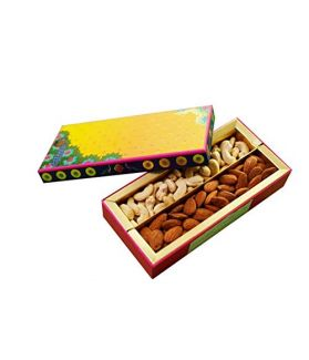 NUTICIOUS -Peacock Box (Covered )(Almonds 125,Cashews 125)-300g,