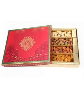 Maharajal Dry Fruit Gift Box1000 gm Assorted Dry Fruits Rosted Almonds & Cashews ,Raisins,Pistachio Each 200gm (Gift for Friends / Relatives)…Maharaja