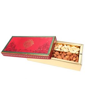 Dry Fruit Gift Box Pack 300 Gm Assorted Dry Fruits Rosted Almonds & Cashews