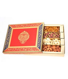 Dry Fruit Gift Pack 500 gm Assorted Dry Fruits Almond,Cashew, Raisins,Pistachio