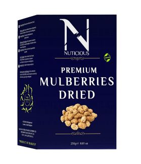 NUTICIOUS All Natural Dried Mulberrries -250 gm