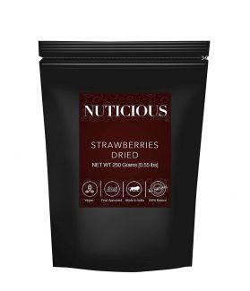All Natural Dried Strawberries -250 Gm (Gourmet Vegan Food Premium Quality)