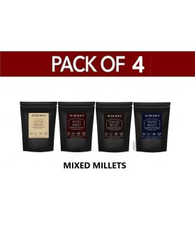 ALL NATURAL Mixed Millets Combo Pack of 4 (Kodo Millet 500 ge, Proso Millet 500 gm, Little Millet 500 gm, Foxtail Millet 500 gm -500 X 4 (Pack of 4)