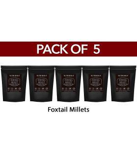 ALL NATURAL Foxtail Millet - Kaon / Kang / Kangni / Kakum / Navani / korralu / Korra / thinai 500 ge X 5 (Pack of 5)Fiber Food Dietery Food