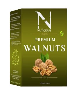Nuticious Gourmet Premium California Walnuts kernals/Without Shel (Akhrot Giri), 250 gm