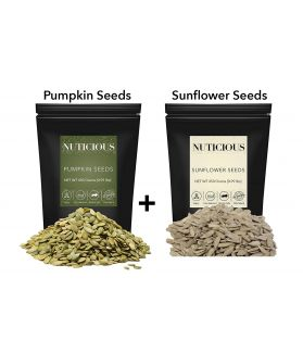 ALL NATURALS Pumpkin Seeds, Sunflower Seeds,Dry Seeds 450 ge X 2.Dry Fruit , Nuts & Berries