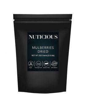 All Natural Dried Mulberrries -250 Ge (Gourmet Vegan Food Premium Quality)..
