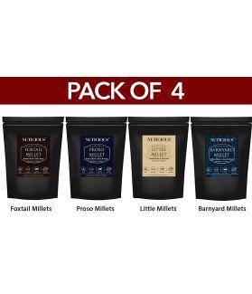 ALL NATURALS Millets Combo (Foxtail Millets, Proso Millets,Little Millets ,Barnyard Millets ) - 500 Ge X 4 (Pack of 4)