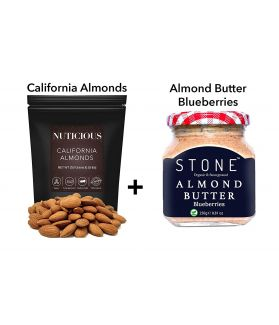 FITJARS - California Almonds 250 Ge +All Natural Vegan Stone Ground Almond Butter Immunity Food ,Dryfruit Butter Dry Fruit , Nuts & Berries