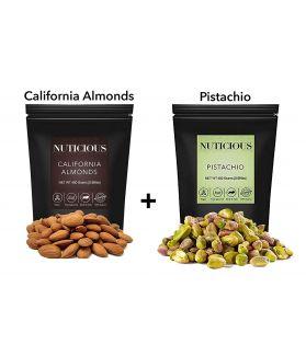 ALL NATURALS California Almonds (Badam), Pistachio Kernals(Pista) Dry Fruits , 450 gm X 2 Pack..Dry Fruit , Nuts & Berries