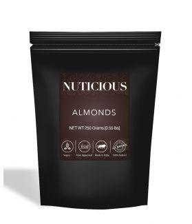 All Natural Premium Almonds (Badam) - 250Gm