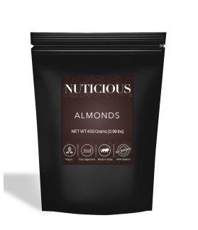 All Natural Premium Almonds (Badam) - 450Gm