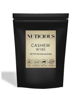 All Natural W180 Whole Cashew Nuts (Kaju) - 250Gm