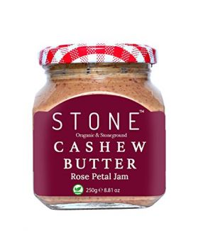 All Natural Stone-Ground Organic Cashew Butter with Rose Petals Jam, 250Gm