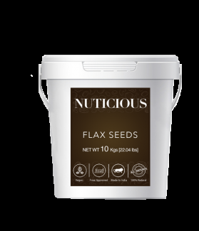 All Natural Organic Flax Seeds (Omega Food)-10 Kgs