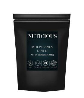 All Natural Dried Mulberrries -900 Ge (Gourmet Vegan Food Premium Quality)..