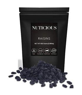 All Natural  Premium Quality Black Raisins (Kishmish) - 450 Ge