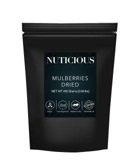 All Natural Dried Mulberrries -450 GE. (Gourmet Vegan Food Premium Quality)