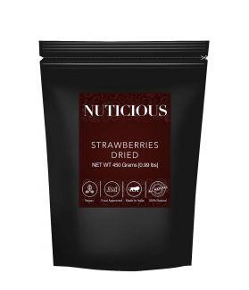 All Natural Dried Strawberries -450 Ge, (Gourmet Vegan Food Premium Quality)